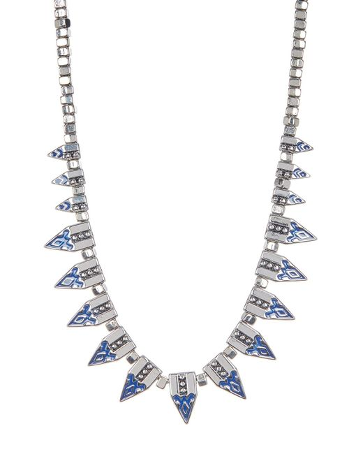 Jessica Simpson | Multicolor Pattern Spike & Bead Necklace | Lyst