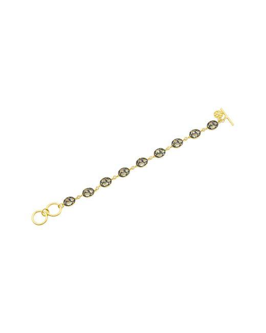 Freida Rothman - Metallic Rose D'or Pavé Cluster Toggle Bracelet - Lyst