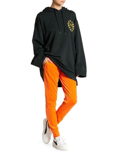 PUMA - Orange Puma By Rihanna Velour Track Pants - Lyst