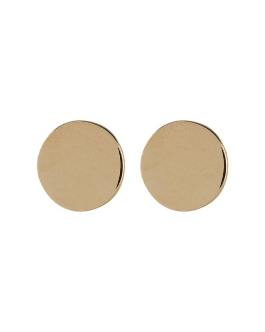 Bony Levy - Metallic 14k Yellow Gold Circle Stud Earrings - Lyst