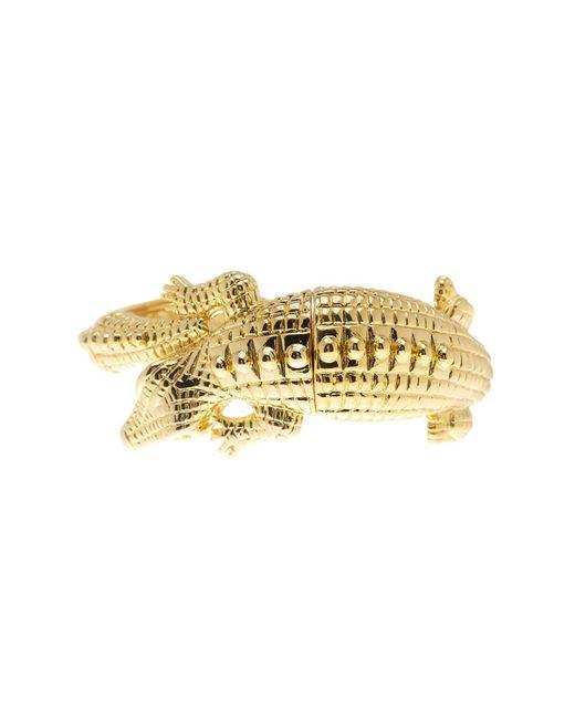 Kenneth Jay Lane | Metallic Crocodile Stretch Bracelet | Lyst