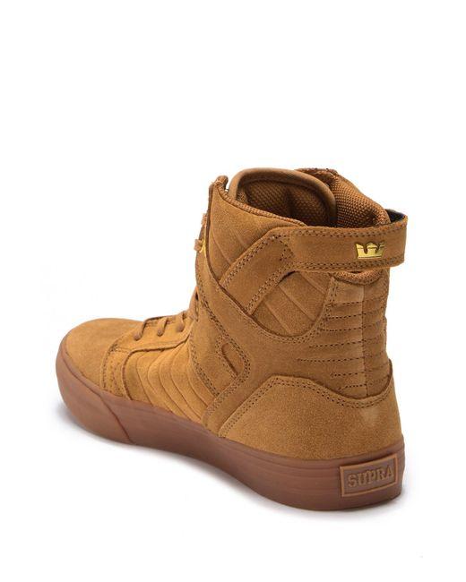 5500b4af8ab7 Lyst - Supra Skytop High-top Sneaker in Brown for Men - Save 62%