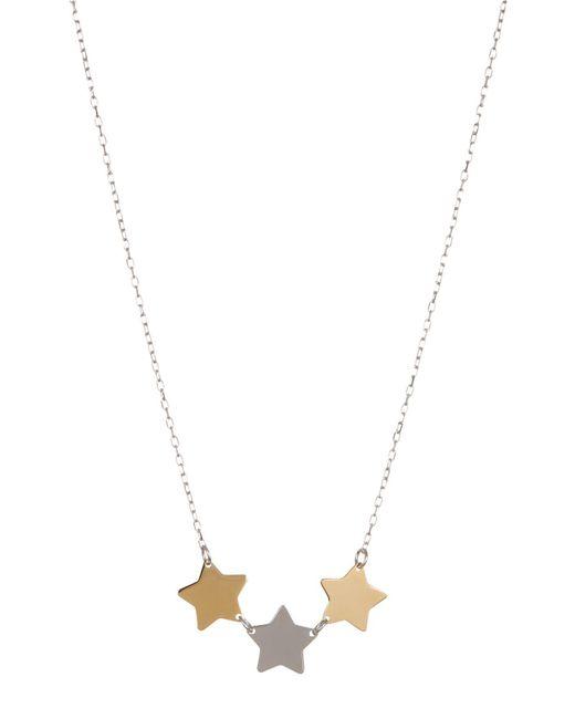 "KARAT RUSH - 14k Yellow & White Gold Star 18"" Necklace - Lyst"
