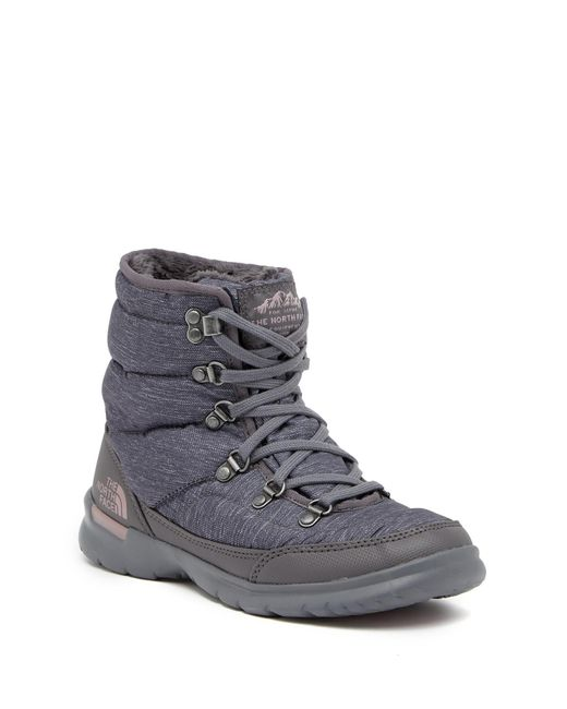 The North Face - Multicolor Thermoball Lace Ii Faux Fur Waterproof Ankle Boot - Lyst