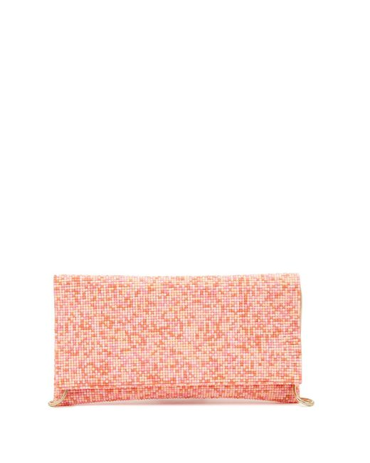 Sondra Roberts - Pink Beaded Foldover Clutch - Lyst