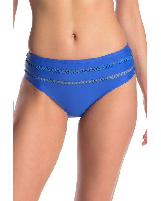 Ella Moss Blue Lace Detail Bikini Bottoms