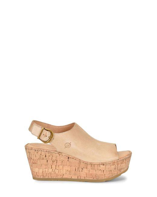 on feet images of good texture fashion styles Brown Orbit Platform Wedge Sandal (women)