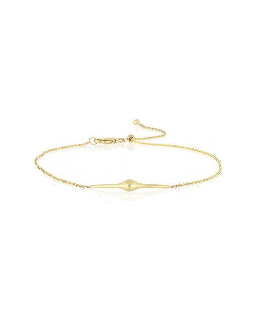 Bony Levy - Metallic 14k Yellow Gold Teardrop Accent Bar Adjustable Bracelet - Lyst