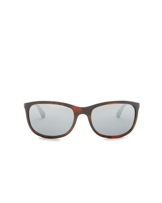 f126ab5aac27d ... Ray-Ban - Gray 59mm Rectangle Sunglasses for Men - Lyst ...