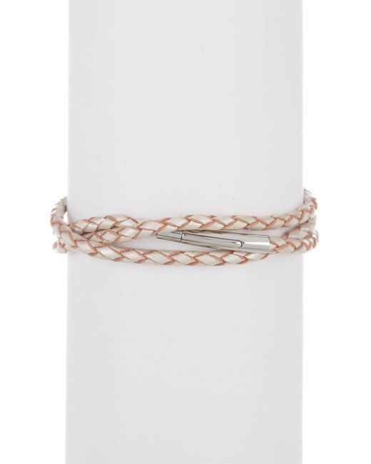Simon Sebbag - Metallic Sterling Silver & Leather Bamboo Shaped Station Wrap Bracelet - Lyst