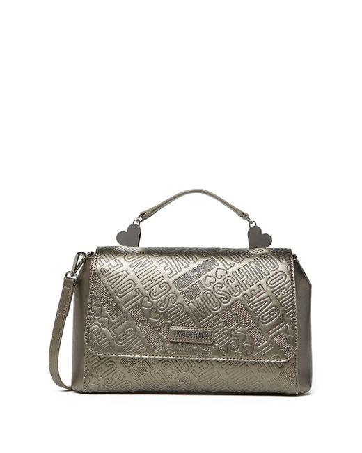 Love Moschino Embossed Metallic Crossbody Bag