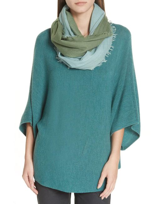 Eileen Fisher - Green Ombre Wool Blend Scarf - Lyst
