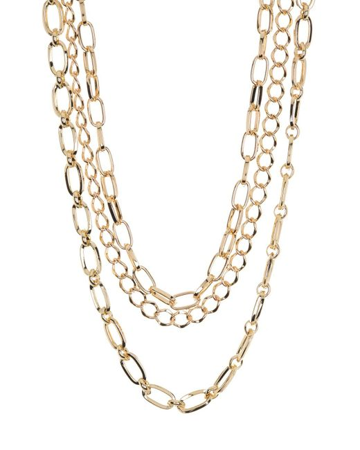 Vince Camuto Metallic Layered Mixed Chain Necklace