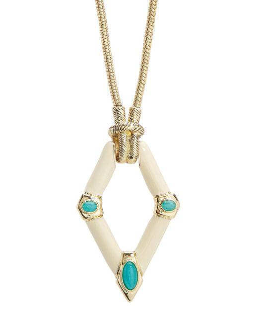 House of Harlow 1960 - White Valda Pendant Necklace - Lyst
