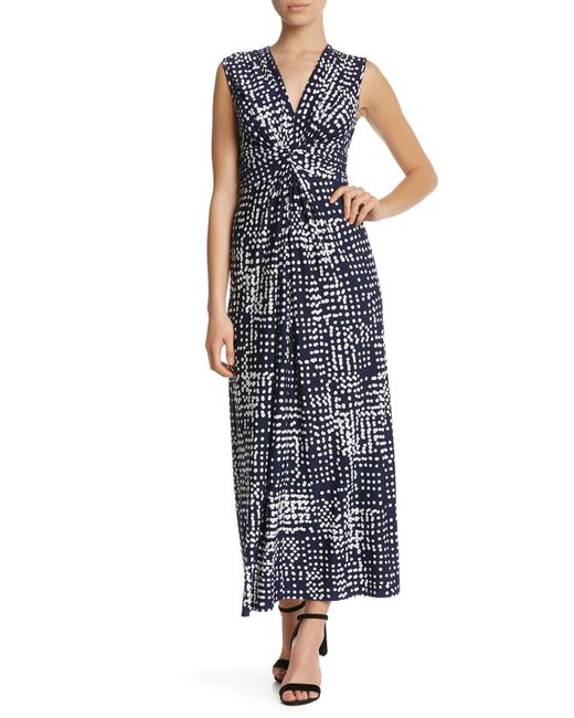 a0807ba9b0fb Eliza J - Blue Extended Shoulder V-neck Twist Dress (petite) - Lyst ...