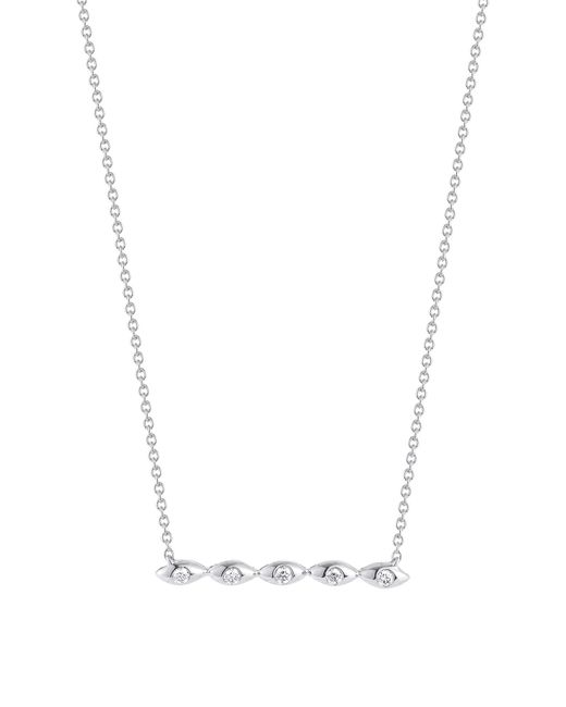 Dana Rebecca - Metallic 14k White Gold Diamond Accented Sophia Ryan Bar Necklace - 0.07 Ctw - Lyst