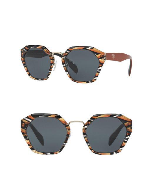 Prada - Multicolor Irregular Heritage 55mm Sunglasses - Lyst