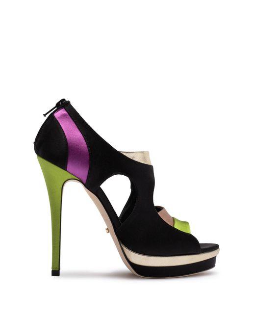 JEROME C ROUSSEAU Simkes Multicolor Silk High Heel Shoe