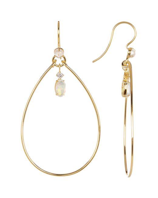 Nadri | Metallic Fizzy Crystal Drop Hoop Earrings | Lyst