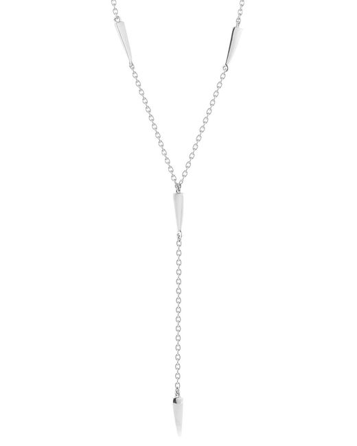 Elizabeth and James - Metallic Miro Double Spike Y-necklace - Lyst