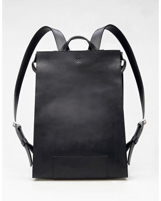 Agnes Kovacs Black Eaves Backpack for men