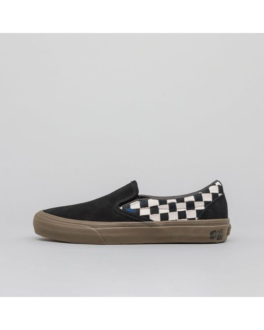 b162a07d61 Lyst - Vans X Taka Hayashi Slip-on Lx Woven Suede In Black white in ...