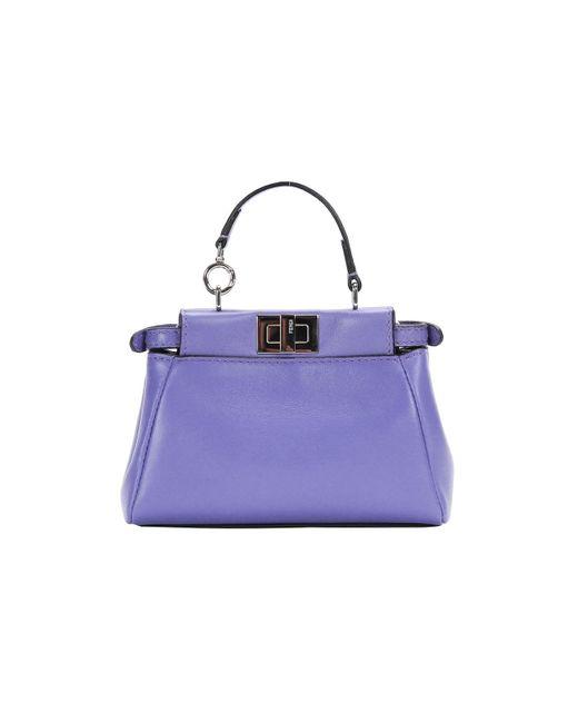 Fendi - 16ss Micro Peekaboo Bag Blue - Lyst
