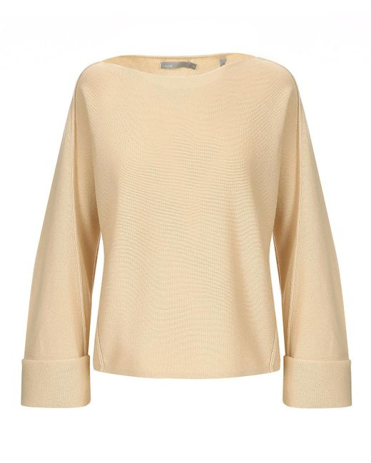 Vince - Natural Twisted Seam Pullover - Lyst