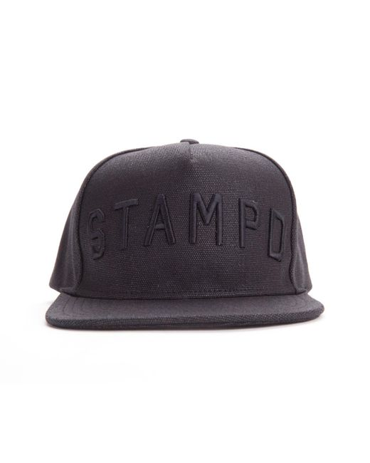 Stampd - Black Waxed Hat Cap for Men - Lyst