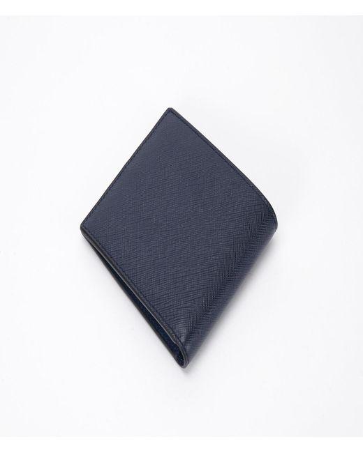 e061e2b3e2e0 ... Prada - Blue Saffiano Stripe Wallet Nero+fuoco+baltico for Men - Lyst  ...