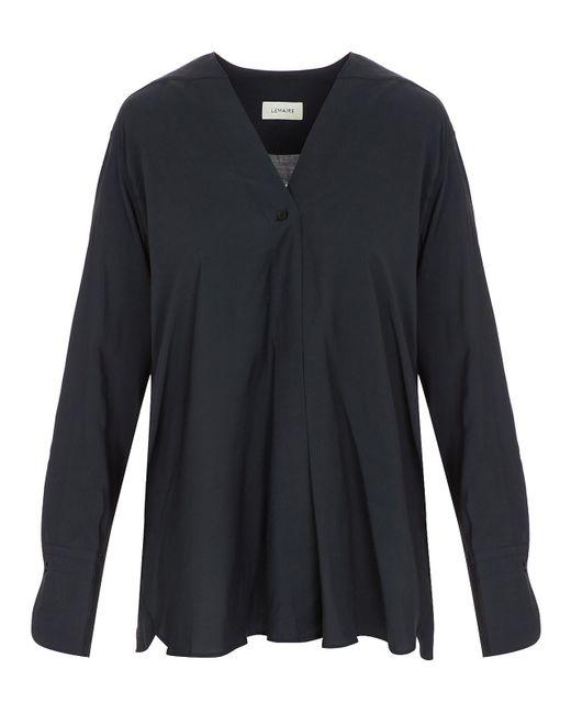 Lemaire - Blue Wrapover Shirt - Lyst