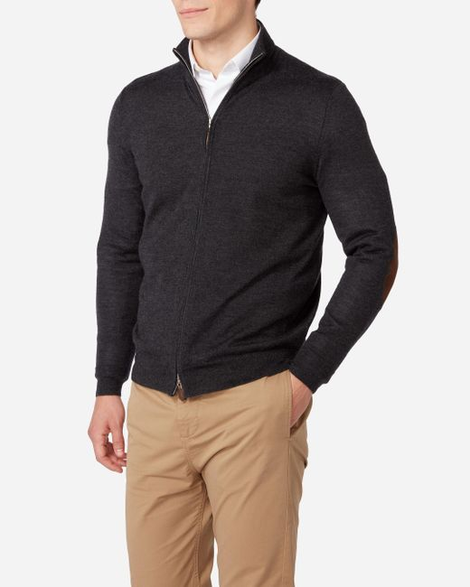 N.Peal Cashmere | Gray The Hyde Fine Gauge Zip Jumper for Men | Lyst