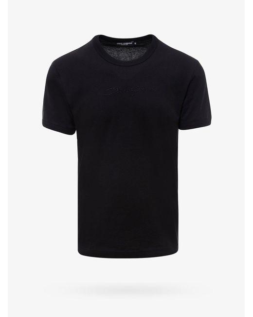 T-SHIRT di Dolce & Gabbana in Black da Uomo