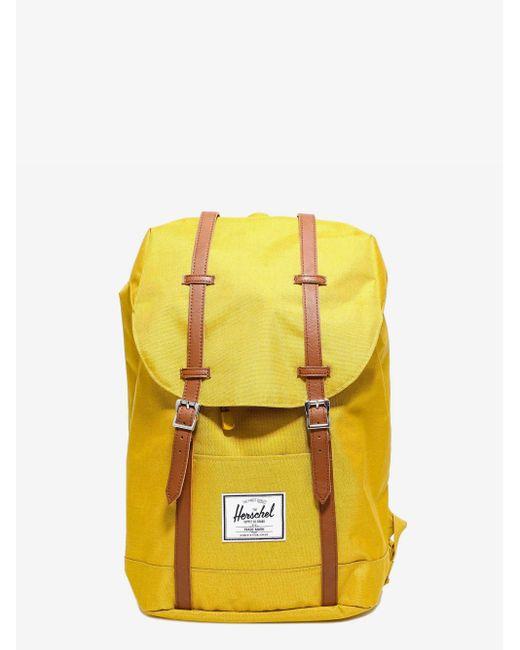 Herschel Supply Co. Yellow Retreat Foldover Backpack for men