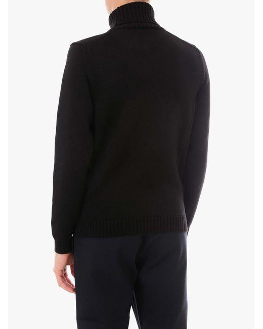 Zanone Black Sweater for men