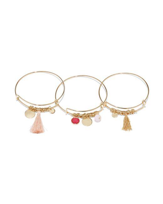 New York & Company - Multicolor 3-piece Charm Bangle Bracelet Set - Lyst