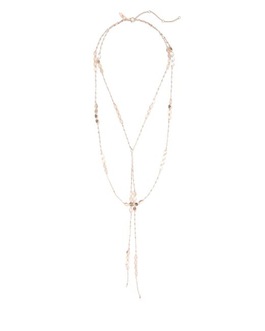 New York & Company - Pink Goldtone Layered Lariat Necklace - Lyst