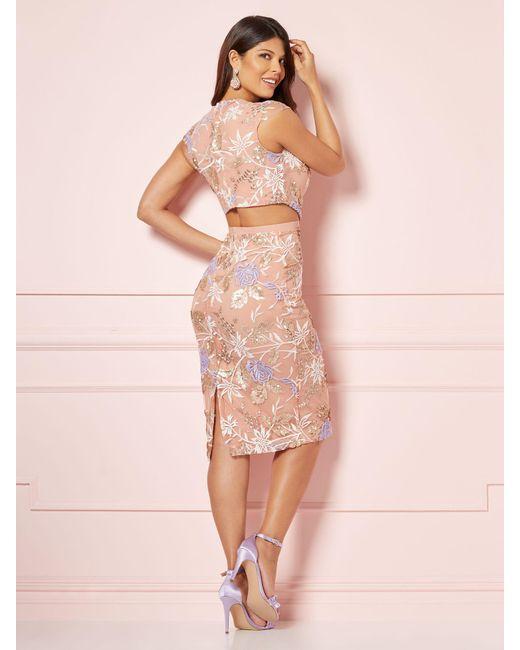 New York & Company - Pink Eva Mendes Collection - Leona Cutout Sheath Dress - Lyst