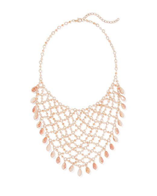 New York & Company - Pink Goldtone Chain-link Statement Necklace - Lyst
