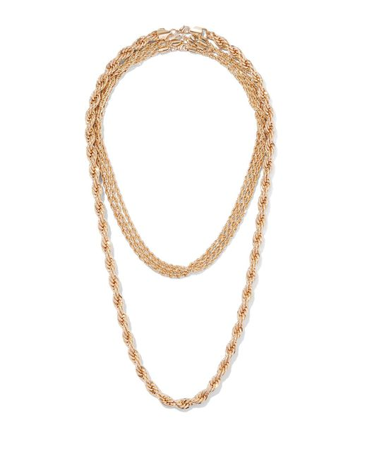 New York & Company - Metallic Goldtone Chain-link Layered Necklace - Lyst