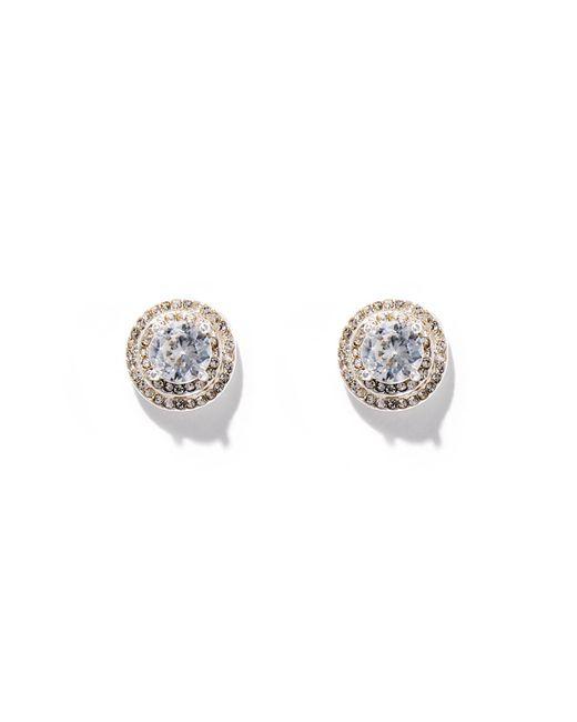 New York & Company - Metallic Dazzling Silvertone Post Earring - Lyst