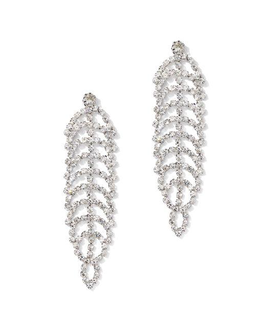 New York & Company - Metallic Glittering Faux-stone Silvertone Statement Drop Earring - Lyst