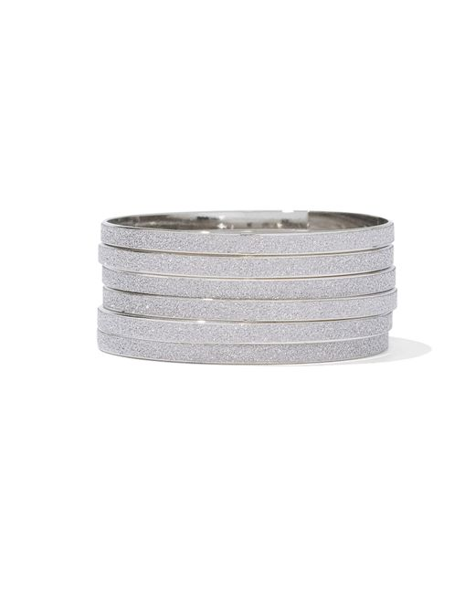 New York & Company - Metallic Six-row Bangle Bracelet - Lyst