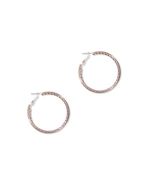 New York & Company - Pink 2-row Textured Hoop Earring - Lyst