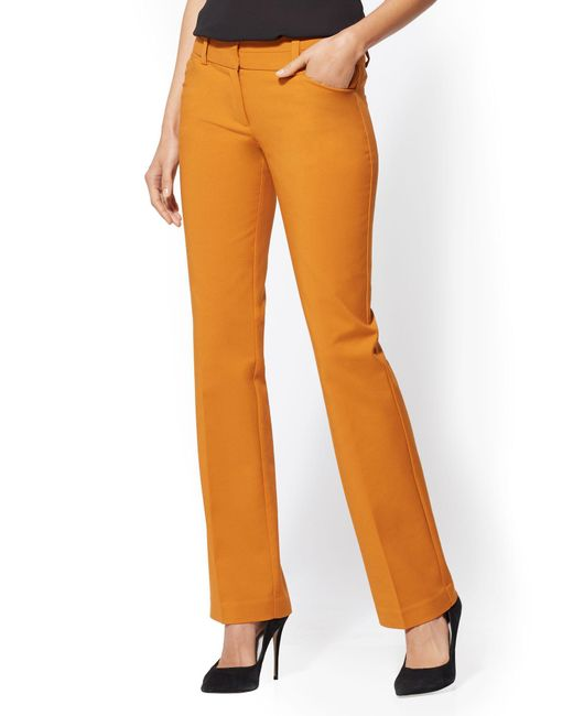 New York & Company - Orange 7th Avenue Pant - Tall Barely Bootcut - Modern - All-season Stretch - Lyst