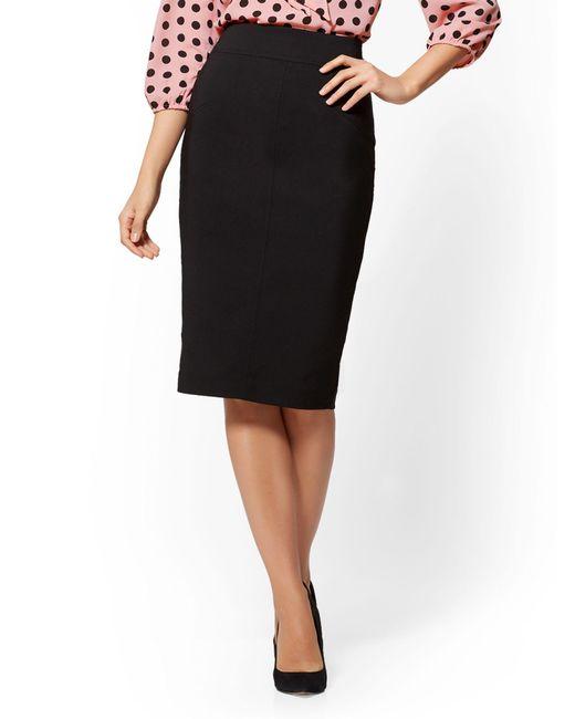 New York & Company - Black 7th Avenue - Seamed Pencil Skirt - All-season Stretch - Lyst