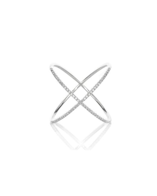 EF Collection | Metallic Diamond X Ring, Assorted Metals | Lyst