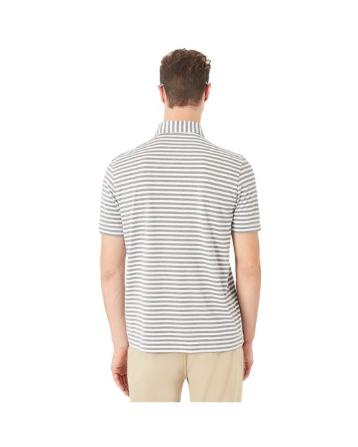 Oakley White Speed Stripe Polo für Herren