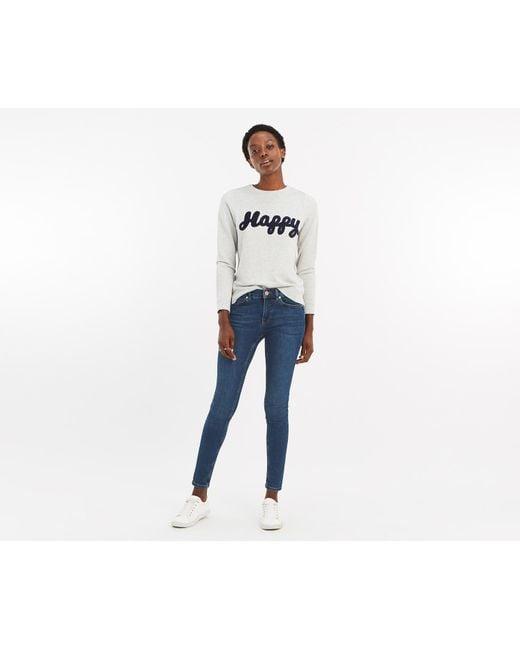 76273ffd1d32 Oasis - Blue Cherry Slim Leg Jeans - Lyst ...