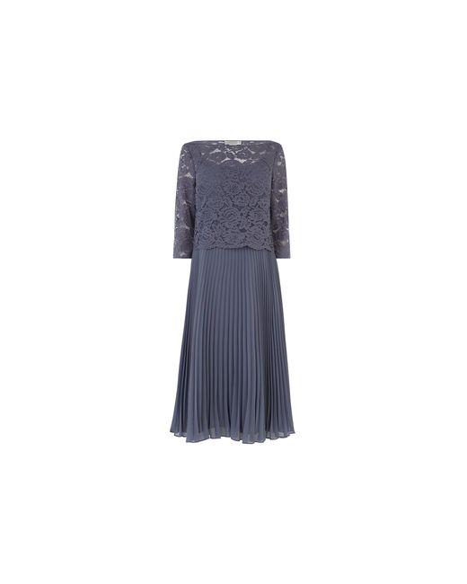 Oasis Gray Lace Top Bridesmaid Dress